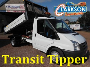 Transit 350 Single Cab Tipper for hire at Clarksons of Glasgow