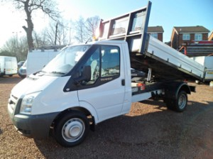 Transit 350 Single Cab Tipper van available for hire at Clarksons of Glasgow
