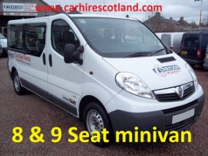 8-9 seat minivan for hire