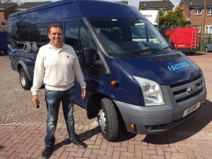 Transit van supplied by Clarksons of Glasgow for Quarrier's charity
