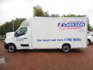 Vauxhall Movano 'Lo Loader' Luton van hire from Clarksons of Glasgow