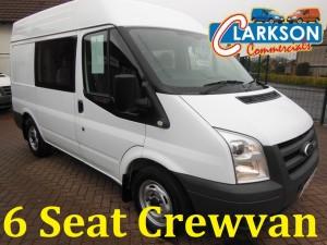6 seat Transit Crewvan for hire Clarkson of Glasgow