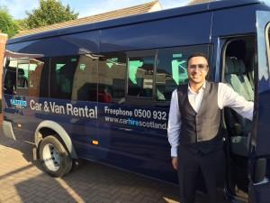 Self drive hire Transit 17 seat minibus hire