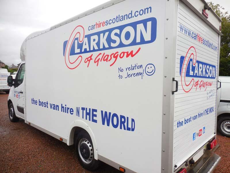 Vauxhall Movano box van for hire Glasgow