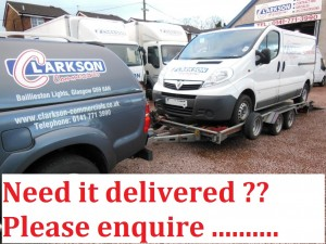 Hire vans delivered to your door by Clarksons of Glasgow