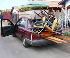 Crammed car for moving house