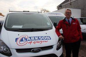 Barry Clarkson personally inspecting a pre-hire van