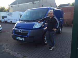 Clarksons van hire and sales Falkirk customer