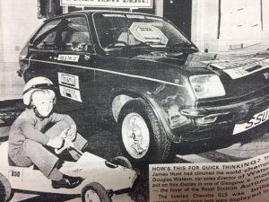 Barry Clarkson Chevette launch 1976