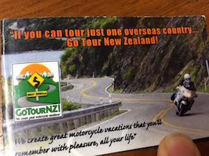 John Fitzwater GoTourNZ card
