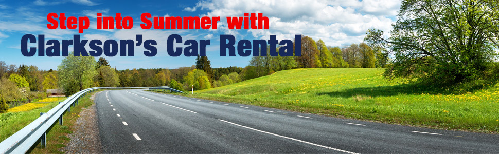 Step into summer with Clarksons Car Rental