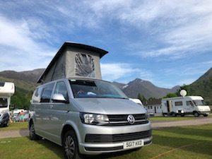 Campervan overnight stay in Scotland