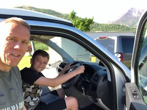 Campervan driving