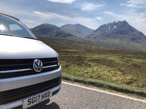Campervan hire in Scotland